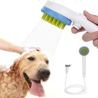 Pet Shower Sprayer Bathing Tool Scrubber Grooming  in 1 hand control for Dog Cat or Horse