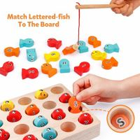 Wooden Magnetic Fishing Game, Fine Motor Skill Toy ABC Alphabet Color  Toddler Kid toy