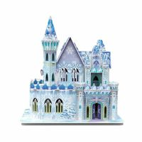 Frozen Ice Palace 3D Castle  Jigsaw Puzzle Magical  Ice Palace Birthday Gifts for ChildrenToys for Family Games