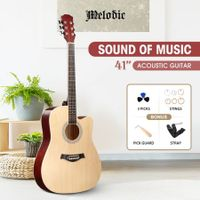 Melodic 41 Inch Natural Handcrafted Acoustic Guitar