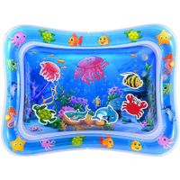 Tummy Time Baby Water Mat Infant Water Mat for 3 6 9 Months Boys Girls Promotes Visual Stimulation (Jellyfish)