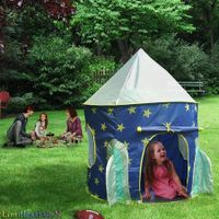 Rocket Tent  Children Castle Playhouse for Boys Girls Toddler, Indoor & Outdoor Use