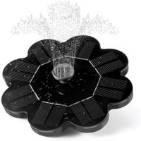 Solar Powered Fountain 7V 1.4W Solar Panel Water Floating Fountain Garden Decoration Water Pump