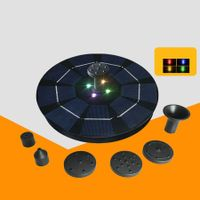 Solar Power Fountain with LED Lights