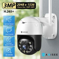 Anisee 3MP Security Camera HD CCTV IP Camera Wireless Home Security Camera Clearer Than 1080P