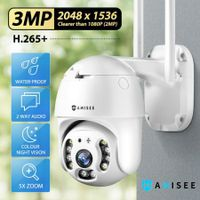 Anisee 3MP Security Camera CCTV Camera HD Wireless Home Security IP Camera Clearer Than 1080P