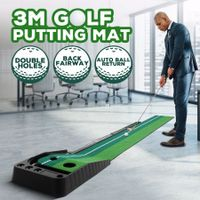 3M Golf Putting Mat Indoor Putting Greens Training Mat Trainer with Auto Ball Return