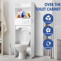 Over the Toilet Storage Cabinet Shelf Bathroom Organiser Stand White