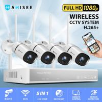1080P Security Camera System Full HD Wireless CCTV Camera Set with 4 Channel Wi-Fi NVR