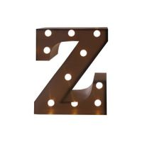 LED Metal Letter Lights Free Standing Hanging Marquee Event Party D?cor Letter Z