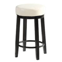 2x Levede 75cm Swivel Bar Stool Kitchen Stool Wood Barstools Dining Chair Cream