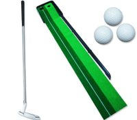 Golf Practice Green Putting Mat - Golf Putter Trainer - 250cm x 55cm