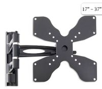 "17"" - 37"" Plasma / LCD TV Vesa Monitor Adjustable Swivel Dual Swing Arm Wall Mount Bracket - Black"