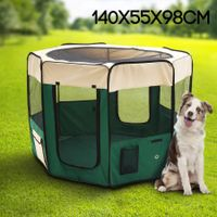 Large Sized Portable Pet Tent Playpen Dog/Cat Kennel 8 Panels - Green