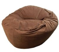 Short Plush 2-Seater Bean Bag