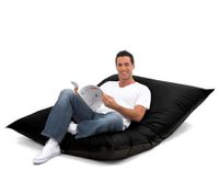 Large 2-Seater Comfortable Bean Bag - Black