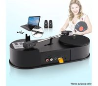Vinyl Record to MP3 USB Turntable Converter