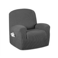 Sofa Cover Recliner Chair Covers Protector Slipcover Stretch Coach Lounge Grey