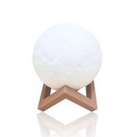 3D Magical Moon Lamp USB LED Night Light Moonlight Touch Sensor 18cm Diameter