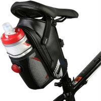 Waterproof Bike Saddle Seat Bag Water Bottle Holder Under Seat Water Bottle Pouch Repair Tool Storage Bag Cycling with Tail Light Riding Accessories