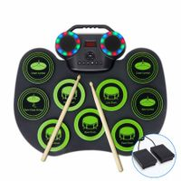 Electronic Drum Set Practice Drum Pad Built-in Dual Speakers and Headphone Jack for Beginner and Child