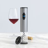 Electric Wine Opener, Automatic Electric Wine Bottle Corkscrew Opener with Foil Cutter (Stainless Steel)