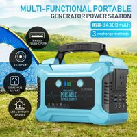 Portable Generator Power Station Solar Lithium Battery 84300mAh