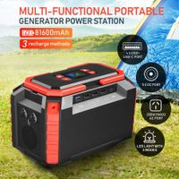 81600mAh 300W Portable Generator Power Station Solar Battery Charger