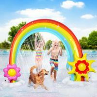 Inflatable Rainbow Sprinkler for Kids Summer Outdoor Lawn Toy