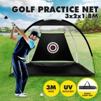 3M Golf Practice Net Hitting Chipping Training Aid Cage for Home Backyard Black
