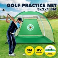 3M Golf Practice Net Hitting Chipping Training Aid Cage for Home Backyard Green