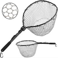 Fly Fishing Net, Bass Trout Landing Net, Folding Fishing Nets Fresh Water, Safe Fish Catching or Releasing