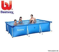 BESTWAY Deluxe Splash Frame Large Outdoor Pool - 259cm x 170cm x 61cm
