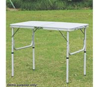 Small Portable Aluminium Fold-Out Table for Picnic & Camping - 90cm x 60cm