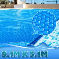 400 Micron Solar Outdoor Swimming Pool Cover Blanket - 9.1M x 5.1M