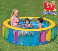 Bestway Splash And Play Large Summer Multi-Coloured Pool Inflatable Kids Junior Water Toy