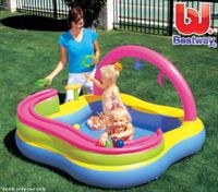 Bestway Childrens Inflatable Swimming Pool with 6 Balls and 3 Rings
