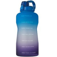 2L Water Bottle Motivational with Time Marker (blue)