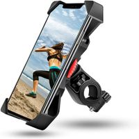 Bike Phone Mount, Motorcycle Phone Mount 360-degree Rotation Bicycle Phone Holder Fits iPhone , Samsung Galaxy