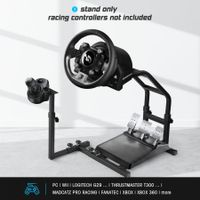 Adjustable Gaming Racing Simulator Steering Wheel Stand for PS2 PS3 Xbox Logitech G25