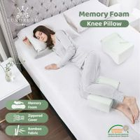 Memory Foam Knee Pillow Side Sleeper Leg Pillow Cushion Bed Pillow Leg Hip Support