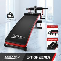 GENKI Multi-Function Sit-Up Bench Home Gym Equipment Workout Set 3 Adjustable Height Settings