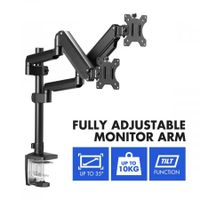 Dual Screen Monitor Stand Bracket Adjustable Computer Monitor Desk Mount for 13 to 35 Inch