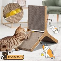 Cat Scratching Board Cat Tree Scratcher Pad Lounge Toy Furniture Corrugated Cardboard