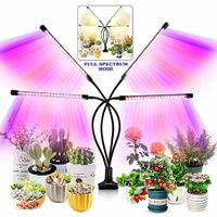 Grow Light for Indoor Plants - Upgraded Version 80 LED Lamps with Full Spectrum & Red Blue Spectrum,  Timer, 10 Dimmable Level, Adjustable Gooseneck