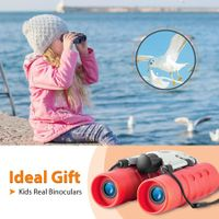 Binoculars for 3-12 Years Boys Girls 8x21 High-Resolution Optics Mini Compact Binocular Toys Shockproof Folding Small Telescope for Bird Watching,Travel, Camping