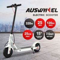 320W Folding Electric Scooter with App Control Headlight LED Display White