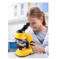 Kids Beginner Microscope 40X-1200X with Optical Glass Lenses & Slides Educational Toys?