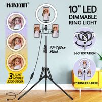 10 Inch LED Ring Light Selfie Ring Light with Adjustable Tripod Stand for Makeup Video Vlog