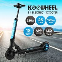 Koowheel Patent Innovative Electric Scooter 320W with LED Display App Control Blue